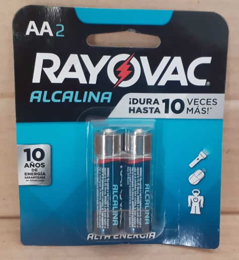 Bateria Alcalina Rayovac AA