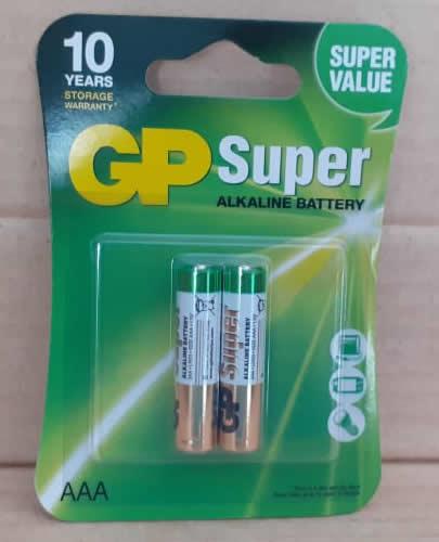 Bateria Alkaline GP Super AAA