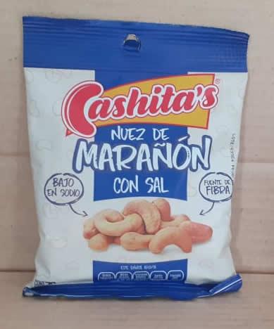 Nuez de Marañon con Sal Cashitas Bolsa 70 grs