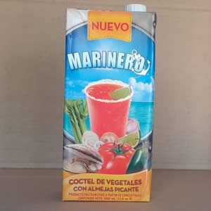 Coctel de Vegetales Con Almeja Picante Marinero Tetra Pack 1 litro