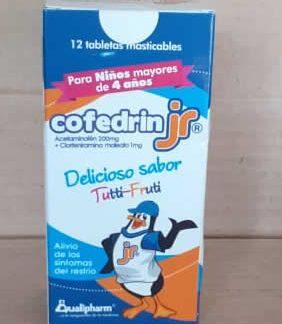 Cofedrin Jr tabletas masticables