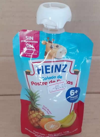 Compota de Postre de Frutas Heinz Doy Pack 113grs