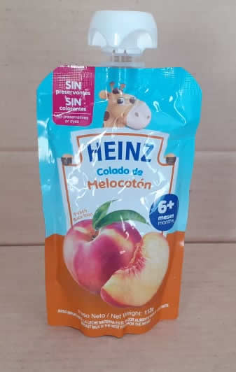 Compota de Durazno Doy Pack Heinz 113grs,