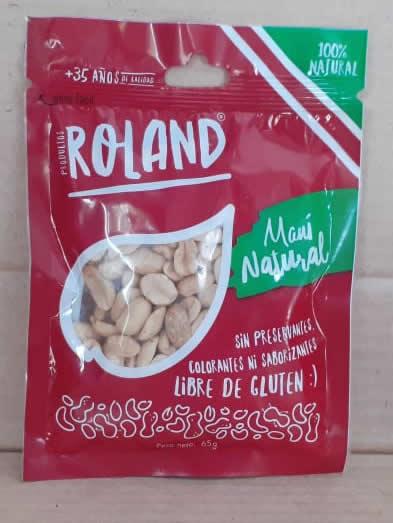 Snack Mani Natural Roland Bolsa 65 grs