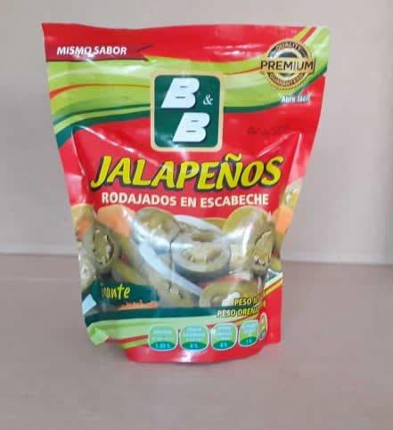 Jalapeños Picante en Escabeche B&B Doy Pack 320grs