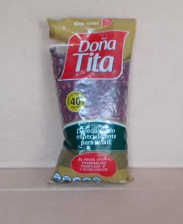 Frijol Rojo En Grano Doña Tita Bolsa 400 gramos.