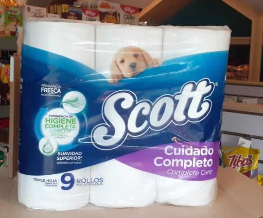 Papel higiénico completo Scott 9 rollos