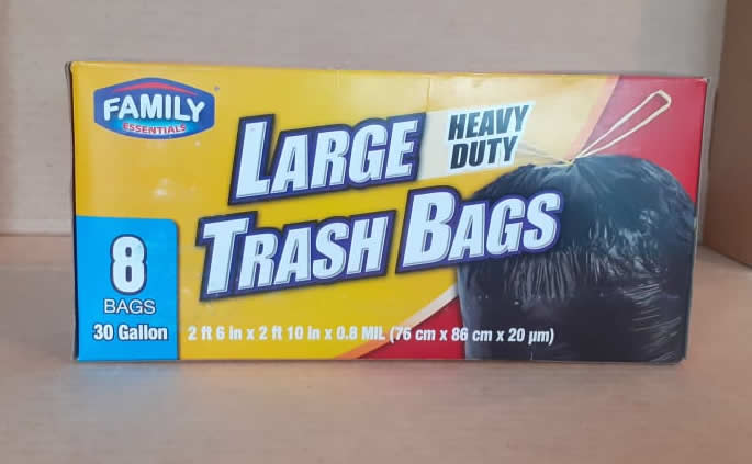 Bolsa para basura Family 30 galones 8 unidades