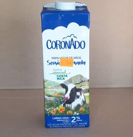 Leche Semidescremada Coronado Tetra Pack 1 litro
