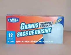 Bolsa para basura Family 13 galones 12 unidades