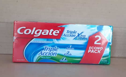 Crema Dental Triple Accion Colgate 2 pack de 90 grs