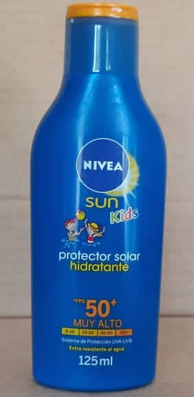 Bloqueador Solar Sun Kids Nivea Botella 125 mL