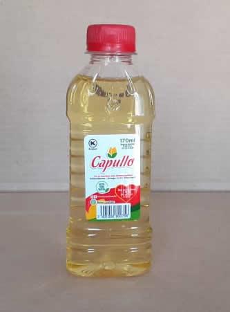 Aceite Vegetal Capullo Botella 170 mL, sin colesterol y libre de Grasas trans
