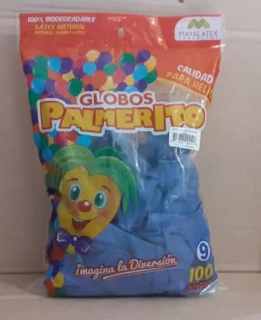 Globo Palmerito chGlobo Palmerito chapín Azul 100 unidades