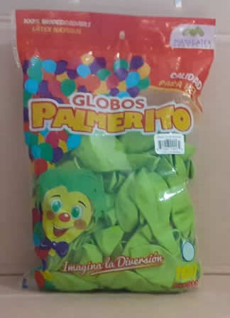 Globo Palmerito chapín Verde Lima 100 unidades
