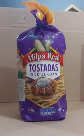 Tostada Milpa Rea ondulada 360 g 30 piezas