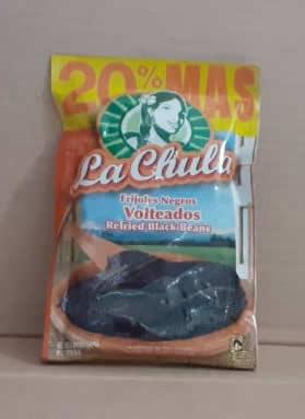 Frijol bolsa la Chula Negro volteados 480 gramos