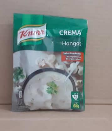Crema de hongos Knorr 63g