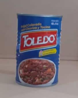 FFrijol Toledo colorado Chorizo y tocino lata 823 g