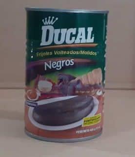 Frijol Ducal negros volteados/molidos lata 426 g