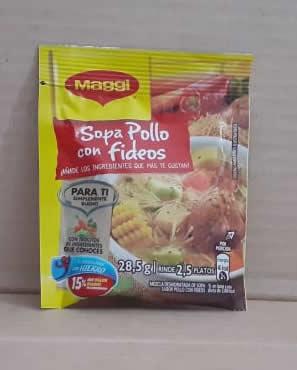 Sopa pollo con fideos Maggi 57g