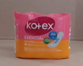 Kotex Esencial sin alas 10 toallas