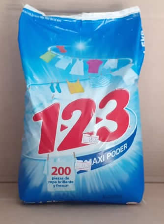 Detergente 123 Maxi Poder Bolsa 1.5 kg
