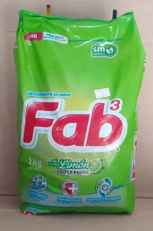 Detergente en polvo Limon Fab Bolsa 1 kg