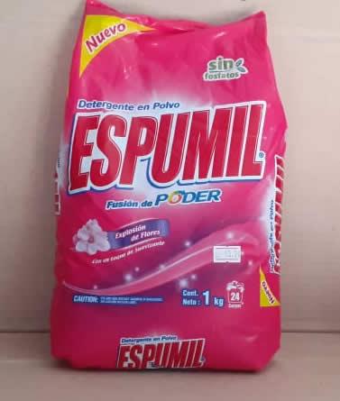 Detergente en Polvo Espumil Bolsa 1 kg