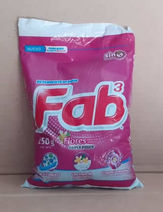 Detergente Flores Fab Bolsa 250 grs
