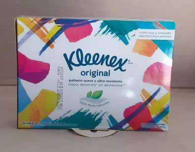 Kleenex original /triple hoja y testeado dermatologicamente
