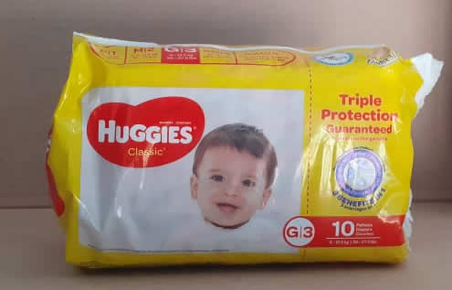 Pañales Huggies Classic G/3 20-27.5 libras 10 unidades