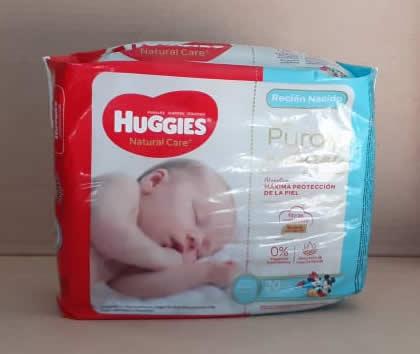 Pañales Huggies Naturl Care Recion Nacido 20 unidades