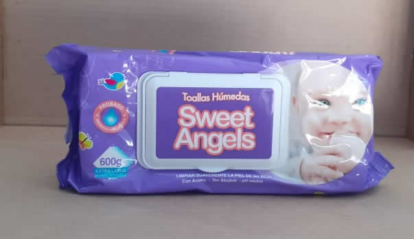 Toallas húmedas Sweet Angels 600 g extra largo