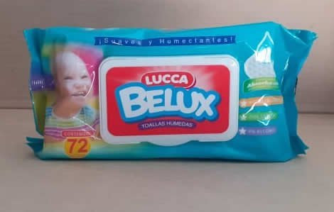Toallitas húmedas Lucca Belux 72 unidades