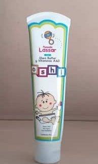 Pomada bebe Oshi Lassar 120 gramos / vía tópica, uso pediátrico con vitaminas A y D