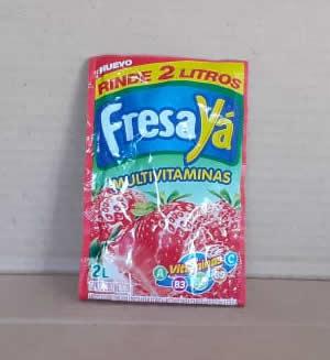 Mezcla En polvo para preparar refresco de fresa