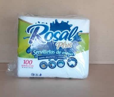 Servilletas de Papel Rosal Plus Pack 100 hojas
