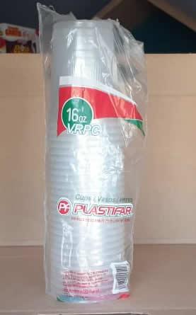 Vaso de Duroport 16oz Plastifar Pack 25 unidades