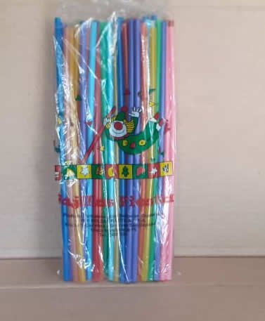 Pajillas de Colores Fiesta Bolsa 50 unidades