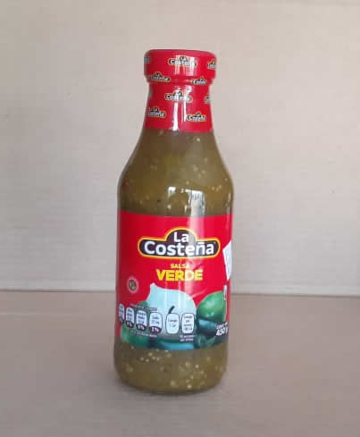 Salsa Verde Medio Picante La Costeña Bote 450 grs
