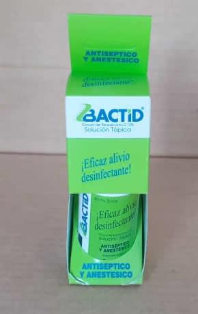 BACTID, anticeptico y anestésico