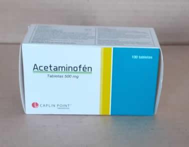 Acetaminofén tabletas de 500mg