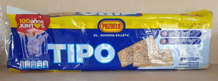 Galleta Tipo paquete de 12 galletas
