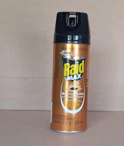 Raid Max 250 ml mata cucarachas e insectos rastreros