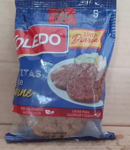 Tortitas de Carne toledo 5 unidades