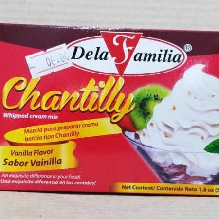 Crema Chantilly De la Familia Sabor vainilla 1.8 onzas (50 g)