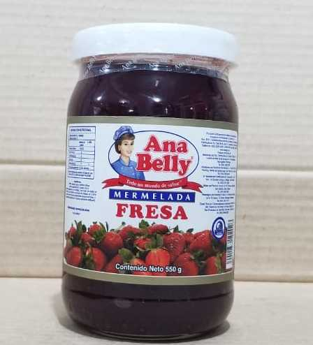 Mermelada Fresa Ana Belly 550 g