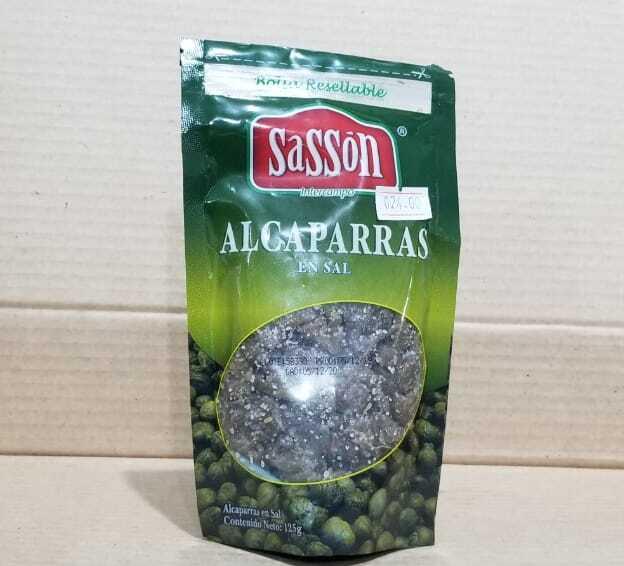 Alcaparras en sal Sasson bolsa 125 gramos