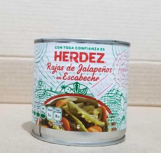 Jalapeños HERDEZ lata 380 gramos